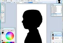 Black silhouette varia