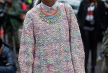 Miroslava D. wearing statement necklace