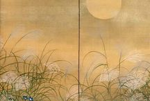 Japanese Screens and Doors / Byōbu (wind wall) are Japanese folding screens made from several joined panels, bearing decorative painting and calligraphy, used to separate interiors and enclose private spaces, among other uses.