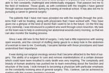 Personal statement for residency