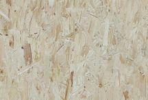 Planche matériaux / Deux matériaux forts pour le meuble du fond de la salle restauration, les grandes tables collectives ( ambiance table de festival) et les quelques murs de liège