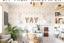WALLS / Wall treatment and decor ideas for the home