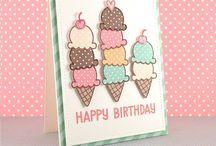 Food birthday cards