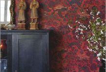Rött / Samlad inspiration tillsammans med våra tapeter, allt med en genomgående röd tråd.