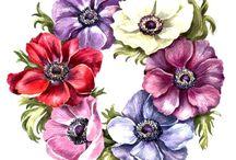decoupage flori