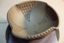 keramika, dřevo
