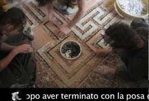 restoration Terrazzo floor / Restoration of ancient terrazzo floor