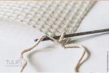 tapete crochê na tela