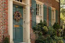 Brick house exteriors