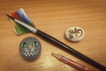 Stonepainting / Pebbles, paints and leisure time