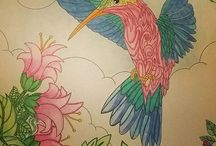 ColorIt Colors of Nature Submissions / You can explore nature with the Colors of Nature coloring book with pages of peaceful forests, a family of bears, a nest of birds, and a flock of butterflies. Take a look at these submissions from our talented ColorIt fans.