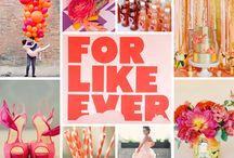 Orange, pink, yellow weddings