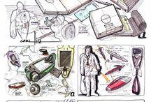 Transport, industry sketch