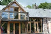 Oak and brick external