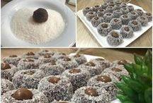 Çikolatalı irmik topları