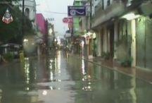 Zware regenval en overstromingen in Thailand