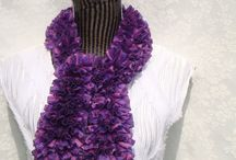 Newest Ruffle Scarf / Handknitted  Scarves / by designbyelena