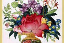 КИТАЙ ПОСТЕРЫ ЦВЕТЫ  CHINA POSTERS FLOWERS