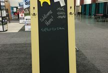 Repurposed Doors at the Fall Show / Area celebrities and friends take old doors and make them into useful items - a desk, potting table, chalkboard, and more.  Where will your imagination take you? #milwaukeenari @milwaukeenari