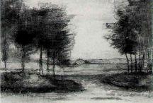 tecknade landskap