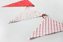 Banderines de tela (: