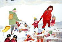 Illustration : : winter scenes