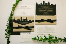 Laser Cut Wedding / Custom laser cut invitations - the options are endless: a skyline, art deco design, lace...