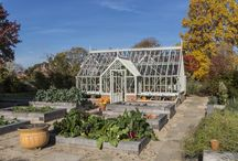 Autumn Gardens with Greenhouses