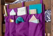 Bed storage pockets