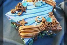 sea & seaside theme cakes
