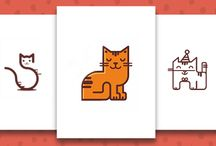 Cat Logo Designs / From the obvious veterinary logos and pet shop logos through to boutique logos and stationary logos, there are plenty of uses for a cute picture of a kitty. Find more inspiration here: http://logo.designcrowd.com/logo-design-gallery/animal/cat-logos