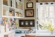 home office ideas / by Carolyn Schilling