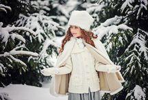 детская фотосессия на улице зимой