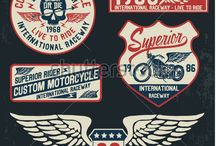 Motorcycle typography