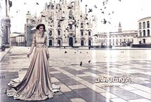 JUNONA - Collection Fall/Winter 2014/15 / Milano - a clash of ancient and modern. With its romance and history it is a source of inspiration for the new collection of JUNONA Fashion House.