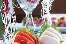 sushi and delicious seafood