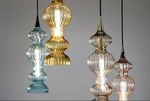 Beautiful Glass & Crystal Lights / Glass Pendants, Crystal chandeliers, Glass Art Lighting,  Colored Glass Pendants