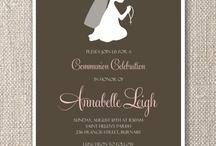 Communion Invitations / by Susan Surette