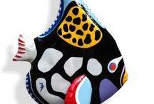 """Jenny Derksen Art: Resin sculptures: """"Fish"""". / Art, kunst, beelden, vissen, betta vis, koraalvlinder."""