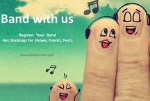 Come band with Us ! / Localturnon is India's #1 Music Dance Connect Platform and invites Music Bands to enroll and get connected to thousands of fans, get bookings for events, shows, performances, festivals and more... Come Band with Us !!