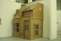 Cardboard forts and houses