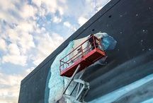 Streetart (Murals, Graffiti, Installationen)