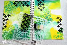 Stencils / Pretty stencils and the amazing things you can create with them.