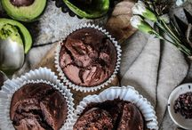Vegan Avocado Chocolate Muffins with Cacao Nibbs by twiggstudions #Muffins #Chocolate #Avocado