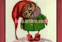 OWLs bead embroidery diy kits