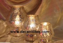 Silver Glass Etching Table Lamp