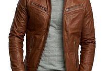 Giacca pelle marrone