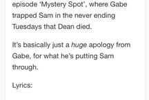 Sabriel and/or Samifer / The Supernatural fandom could make a ship out of a pot plant and a water bottle.