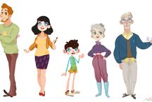 ChD - Families - Character Design / Groups of characters that share more than a passing resemblance.