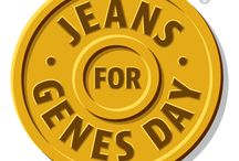 Jeans for Genes  / Jeans for Genes day raises money for Genetic Disorders UK and aims to change the world for children with genetic disorders.This board shows just how creative you can be with jeans and perhaps make something and raffle or sell it and donate.